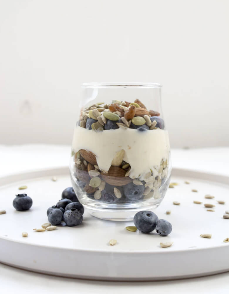 Healthy Dessert With Nuts & Berries